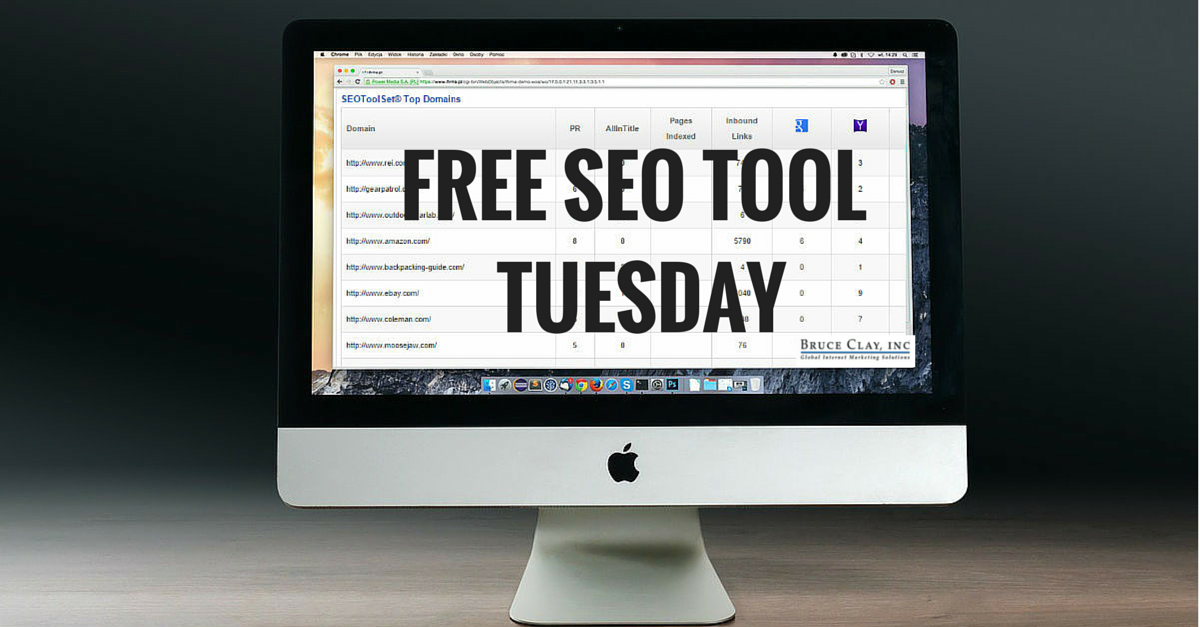 Free SEO Tool for Competitive Research from Bruce Clay, Inc.