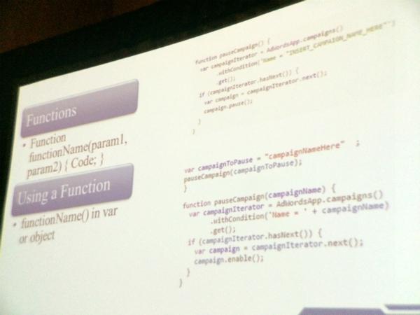 Code snippets slide