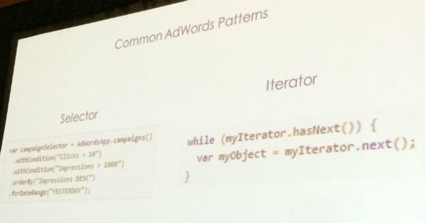 AdWords patterns slide