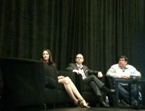 Panelists Mindy Weinstein, Gene and Bill Hunt at SMX West 2015