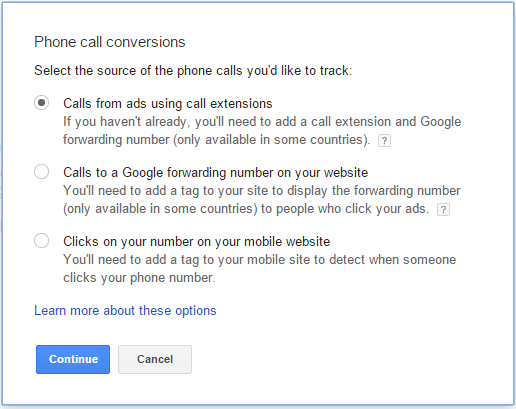 adwords phone call conversions