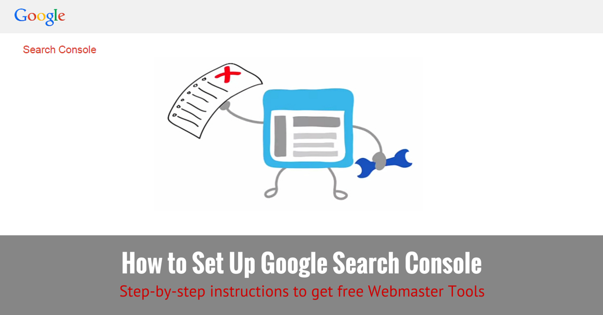How to set up google search console webmaster tools for Search console
