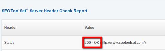 check server page tool 200