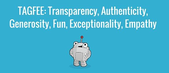 TAGFEE_ Transparency, Authenticity, Generosity,