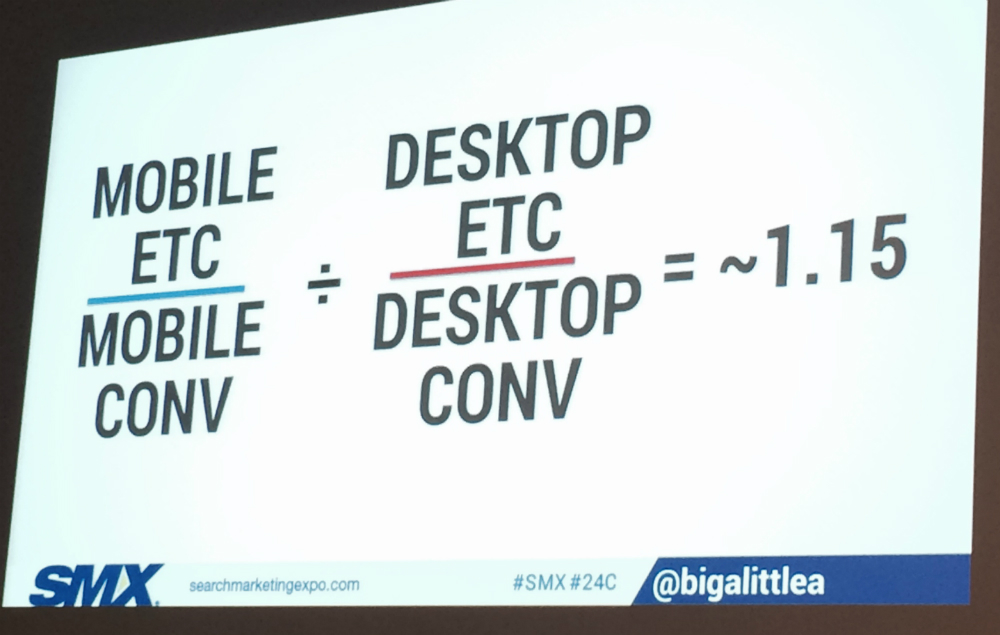 Slide from Mobile PPC session