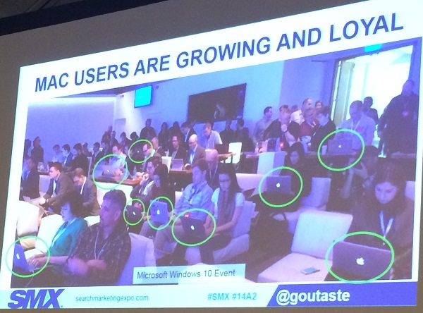Mac Users are Growing SMX East