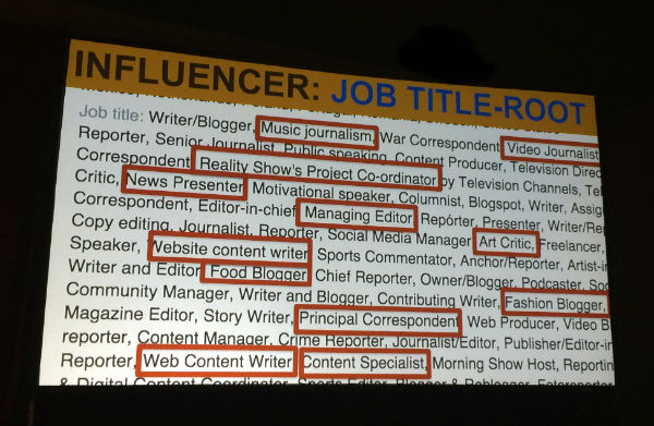 Influencer job title root 2