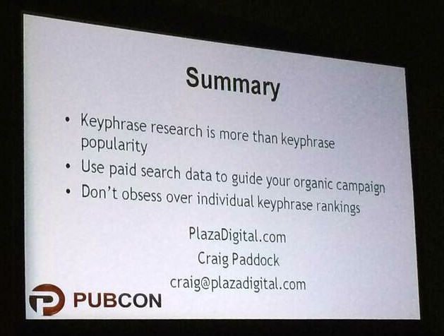 Keyword research Summary