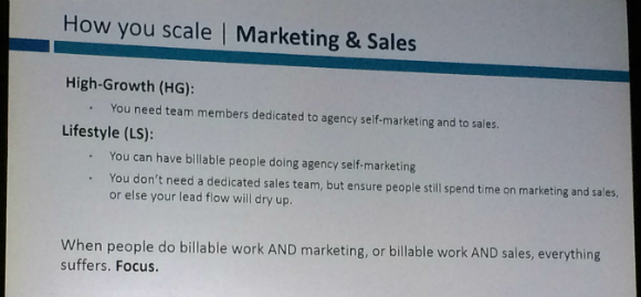 How to scale your marketing & sales