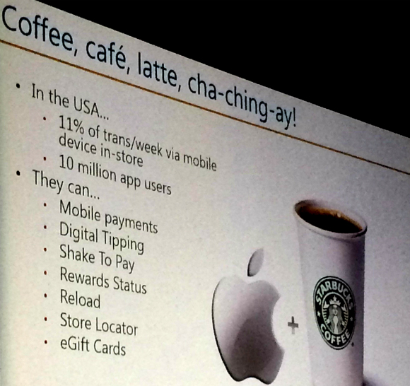 Starbucks use of mobile