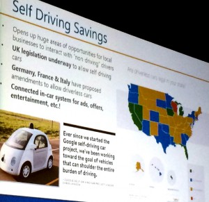 Self-driving cars in the future of search