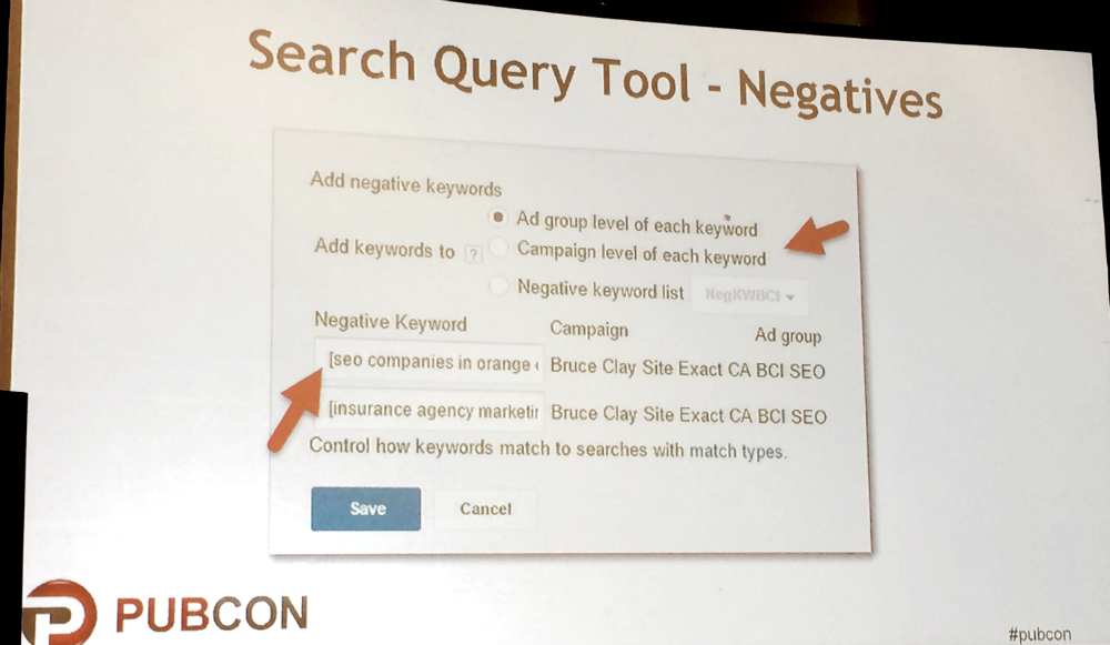 PPC search query tool slide