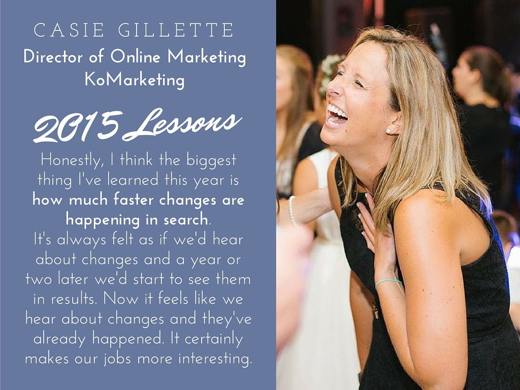 Casie Gillette 2015 lessons