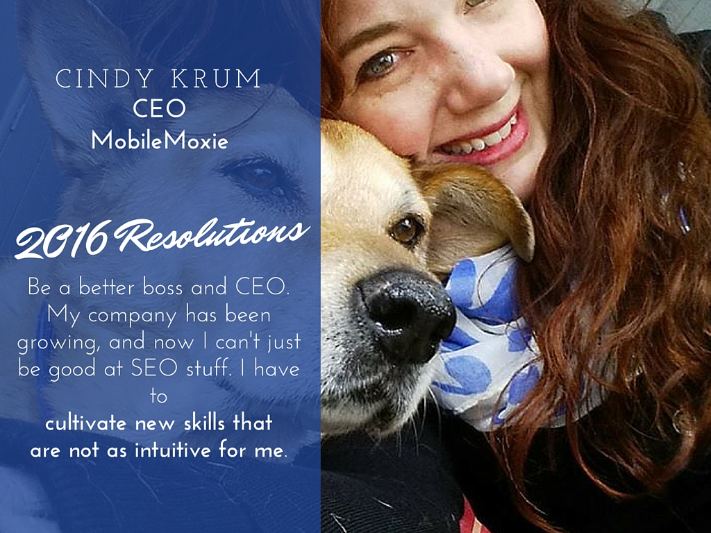 Cindy Krum 2016 resolutions
