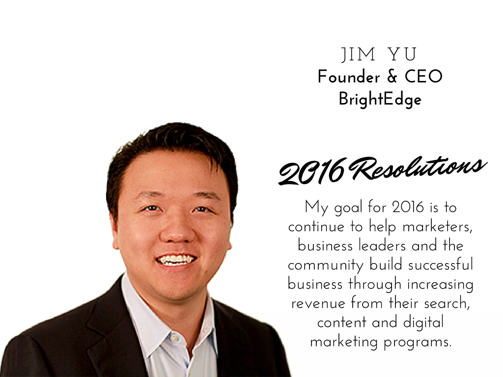 Jim Yu 2016 resolutions