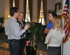 Training attendees talking