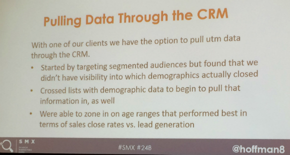 slide of pulling data through the CRM
