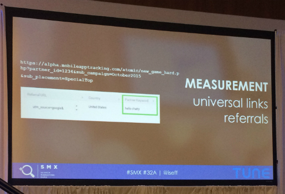 Measurement Universal links referrals