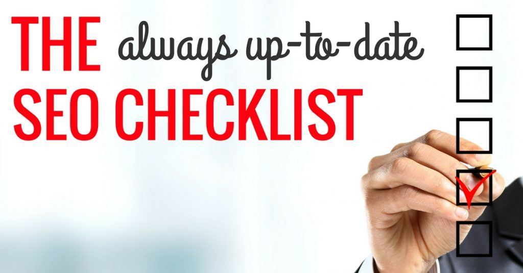 the always up to date seo checklist from bruce clay