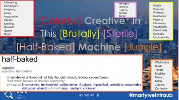 keyword creative by marty weintraub at smx