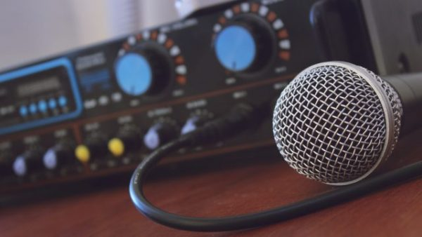 microphone and mix board