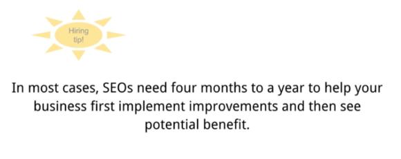Google says SEO takes 4-12 months