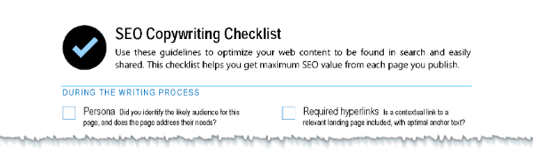 Bruce Clay's SEO Copywriting Checklist