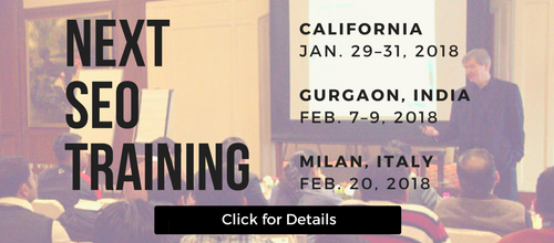 Next SEO Training Courses Scheduled
