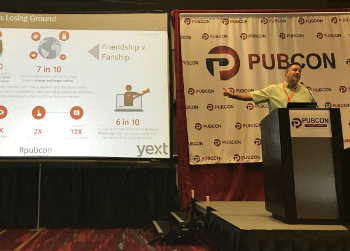 Duane Forrester speaking at Pubcon