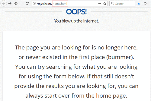 404 error message example