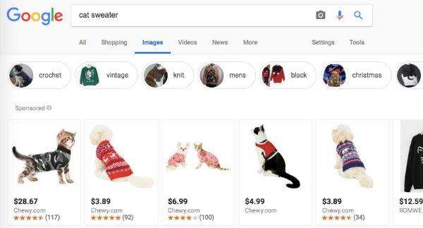 Related search terms in image results