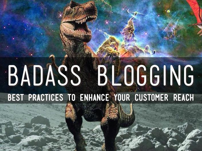 blogging with dinosaurs title slide