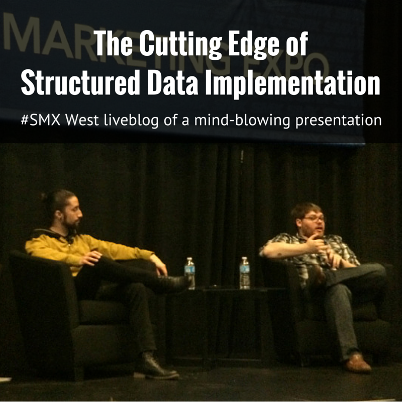 The Cutting Edge of Structured Data liveblog