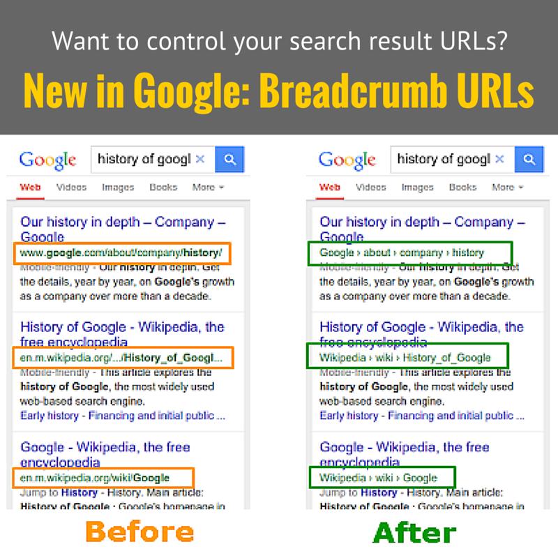 New in Google: Breadcrumb URLs