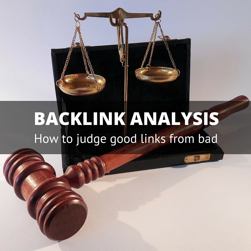 Backlink analysis - gavel and scales