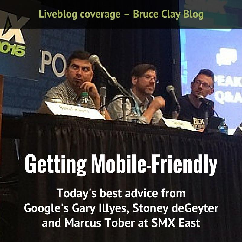 Getting Mobile Friendly session liveblog