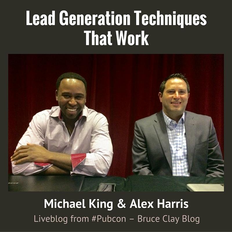 Lead Generation session liveblog