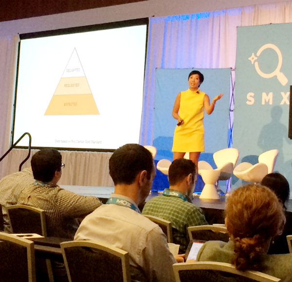 Maile Ohye on stage at SMX West 2016