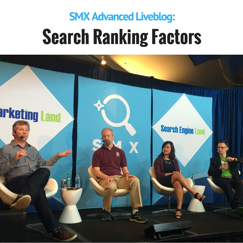 Search Ranking Factors panel at SMX