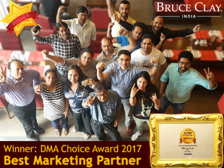 Bruce Clay India team celebrates its award