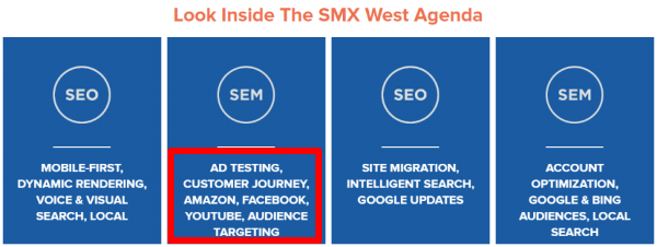 SEM description at SMX West