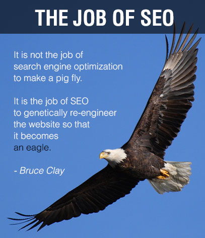 Bruce Clay quote with eagle flying