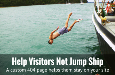 Help visitors not jump ship