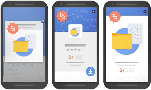 Intrusive interstitials examples per Google