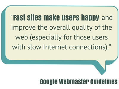 Fast sites make users happy quote