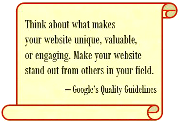 Google Quality Guidelines Quote