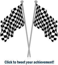 Finish line checkered flags