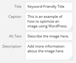 Image attributes in WordPress
