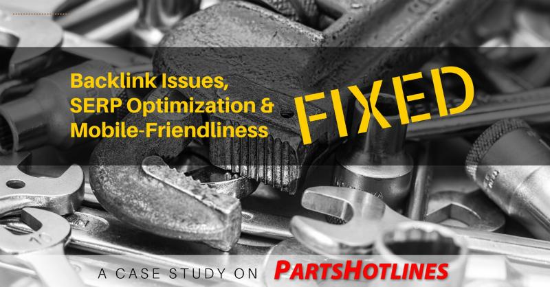 SEO case study on Parts Hotlines.com