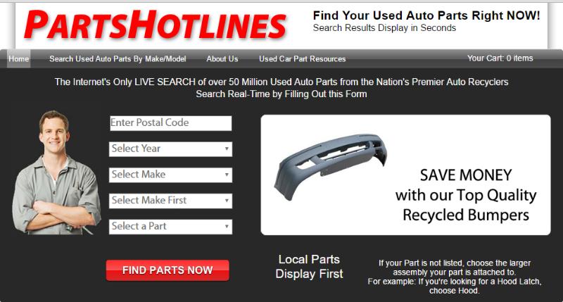 PartsHotlines.com home page